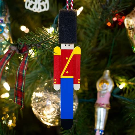 wooden toy soldier ornament