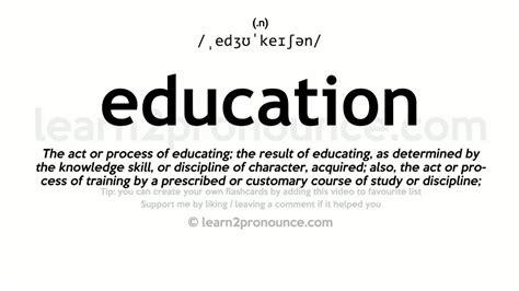 education pronunciation  definition youtube