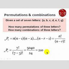 Frm Combinations And Permutation Youtube