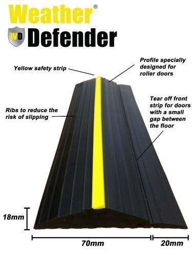 weather defender heavy duty  garage door floor seal
