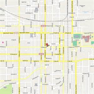 Downtown Lima Ohio Map