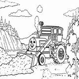 Digger Coloring Colouring Colorluna Dirt Pulling sketch template