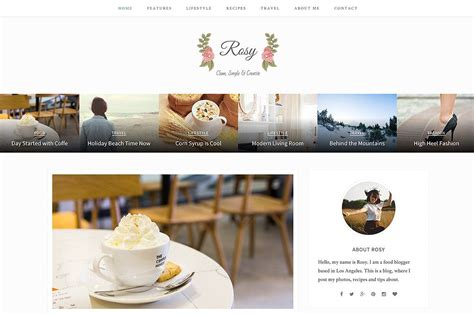 rosy beautiful wordpress blog theme blog themes