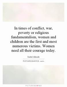 In times of con... Poverty And Religion Quotes