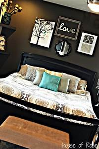 Master bedroom wall makeover love the colors and set up
