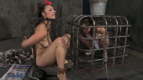 Chubby Brunette Whore Feeds Another Chick From Her Feet In