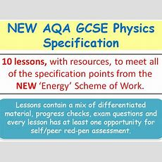 New Aqa Gcse Physics (2016)  Lessons For 'energy' Sow By Swiftscience  Teaching Resources Tes