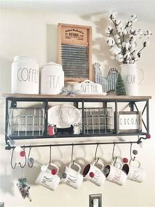 rustic farmhouse rae dunn coffee bar with hobby lobby With kitchen colors with white cabinets with dinosaur wall art hobby lobby