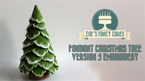 brush embroidery christmas tree cake topper snow