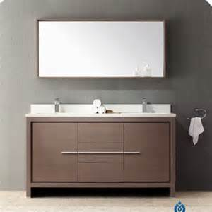 fresca allier 60 double modern bathroom vanity set with