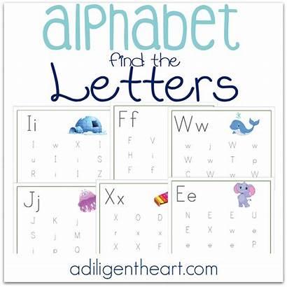 Alphabet Letters Printable Pages Adiligentheart Letter Heart
