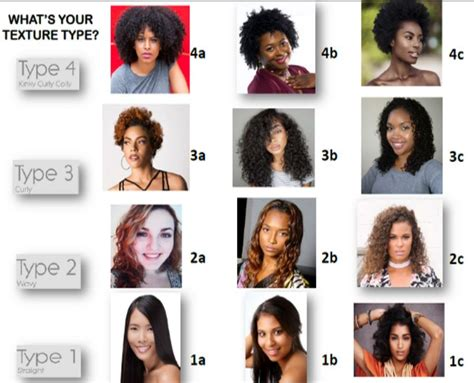 Natural Hair Types: Curly WavyStraight Charts Test