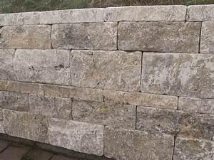 Steine Für Aussenbereich : travertin mauersteine f r gartenmauer in silver grau ~ Michelbontemps.com Haus und Dekorationen