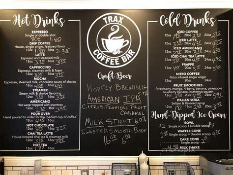 Check out our location and hours, and latest menu with photos and reviews. Online Menu of Trax Coffee Bar, Rocky Mount, NC
