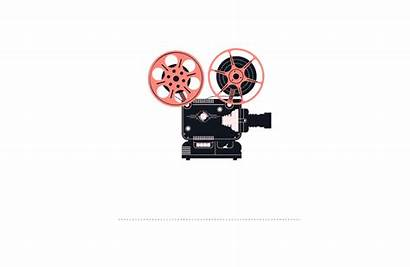 Cutting Film Projector Tape Reel Animated Rolling