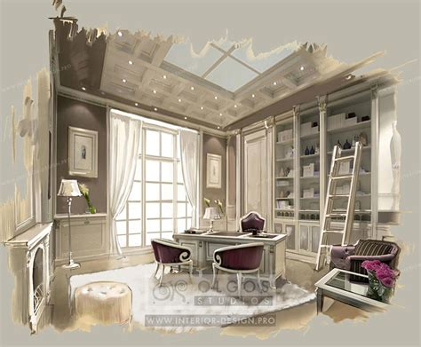 interior designing for home interior design of a study photos and 3d visualisations