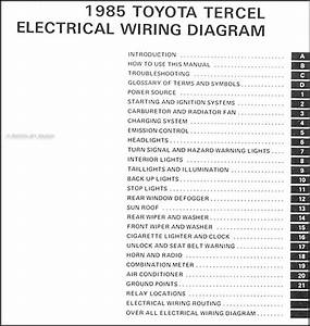 1985 Toyota Tercel Wiring Diagram Manual Original