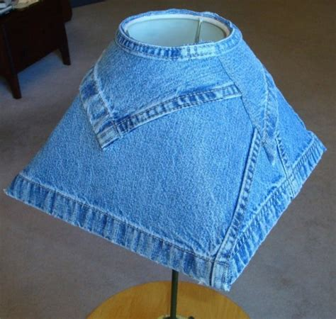 jeans denim lampshade lampshades recycled paralume viejos recycle scraps lamp reciclar shade creative vestita lampada sewn weathered together rivestire idei