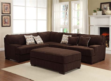 Chocolate Brown Sectional Sofa 9909ch Comfort Sectional