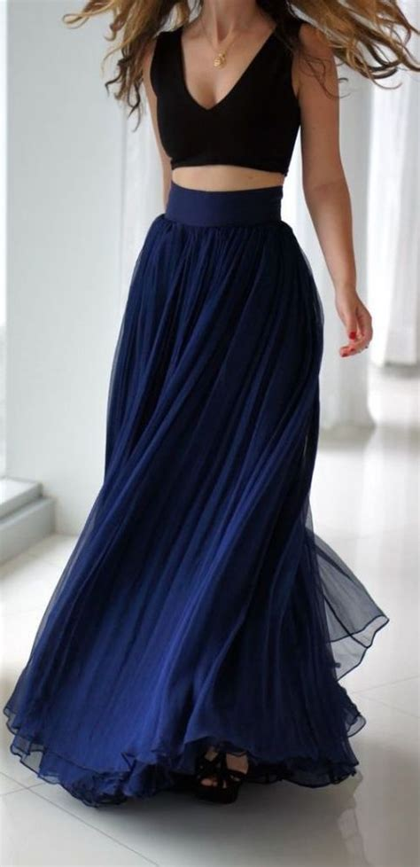 2 pieces Navy Blue Prom Gown,Lovely Navy Blue,Simple Prom
