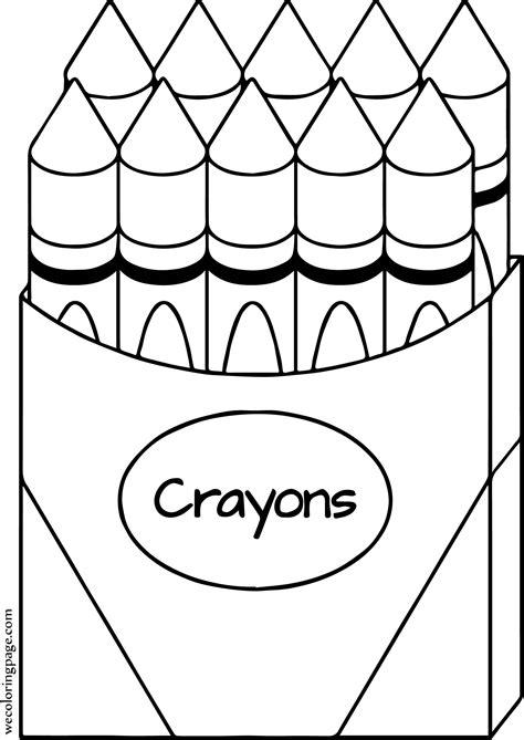 crayon  coloring page wecoloringpagecom