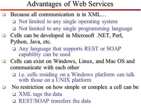 Advantages And Uses Of Web Services In C