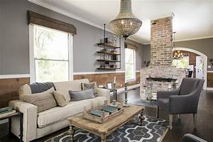 Rustic Dining Room And Living Room Interior #16059 ...