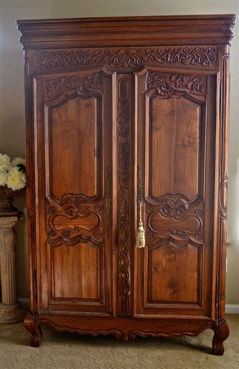 S Wardrobe Armoire by Vintage Shabby Chic Armoire Or Wardrobe Or Ent