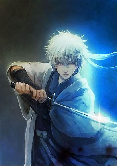 Anime Sword Guy Male Gintama Wallpapers Character
