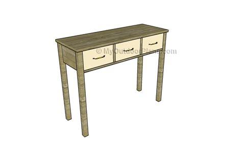 build  console table myoutdoorplans
