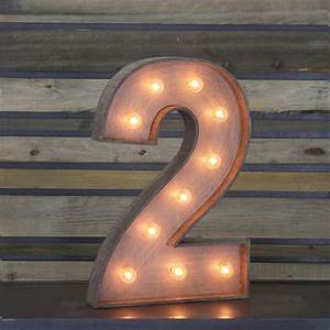 """Edison Marquee Number - """"2"""" 