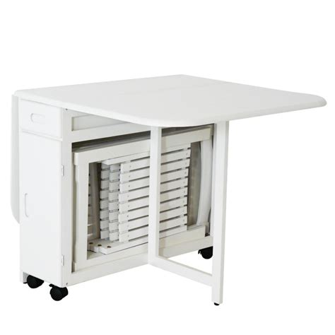 table de cuisine gain de place table 4 chaises pliantes gain de place blanc table