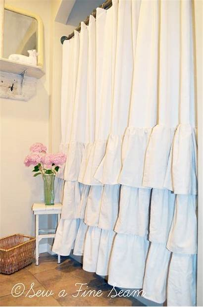 Curtain Shower Ruffled Curtains Ruffle Country French