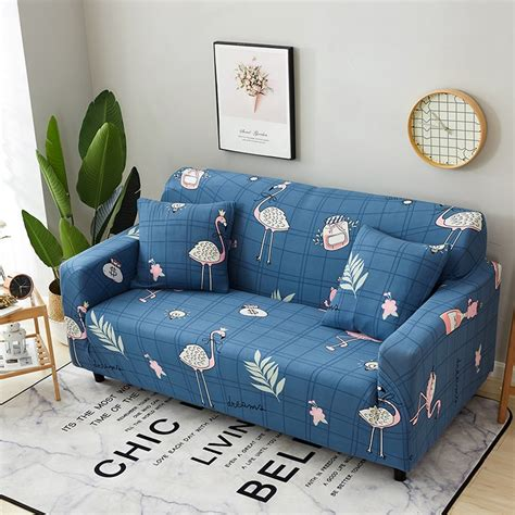 Blue Slipcovers For Sofas by Blue Flamingo Elastic Corner Sofa Covers Universal