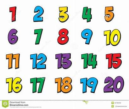 Numbers Number Clipart Numero Zahl Colorful Bunte