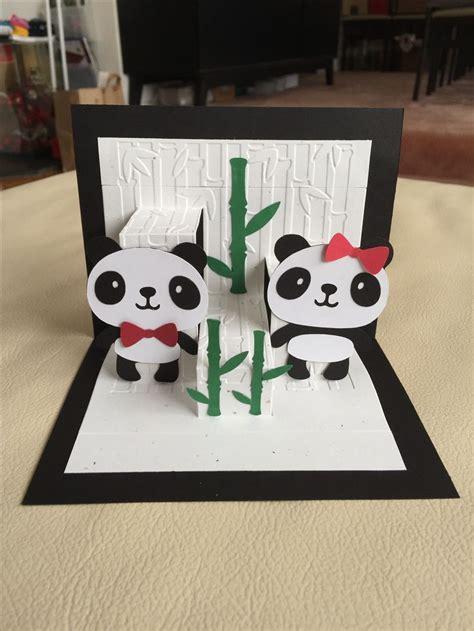 panda pop  card tarjetas  novios manualidades