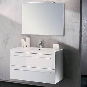 Meuble salle de bain noir et blanc for Meuble salle de bain laqué
