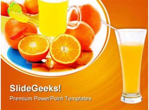 orange juice food powerpoint templates  powerpoint