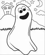 Ghost Coloring Printable Pages Print Halloween Mpmschoolsupplies sketch template