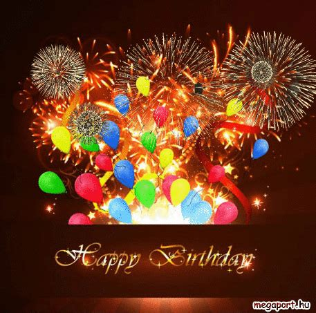happy birthday fireworks gif pictures   images  facebook tumblr pinterest