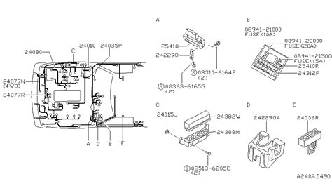 97 Nissan Light Wiring Diagram by 24171 1s700 Genuine Nissan Parts
