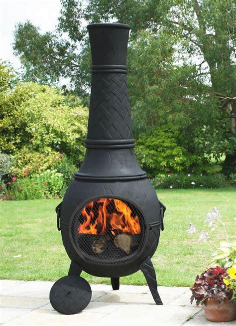 mega cast iron chimenea  black  la hacienda