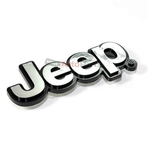 jeep front logo jeep chrome abs 3d emblem badge nameplate letters for