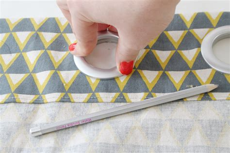 tutorial diy grommet curtains