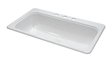 7 deep kitchen sink lyons industries dks01sb3 designer white 33 inch by 19