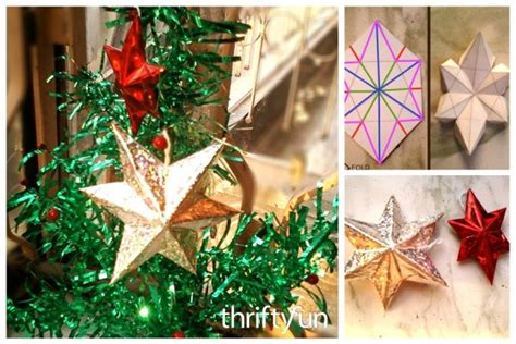 making  paper star christmas ornaments thriftyfun
