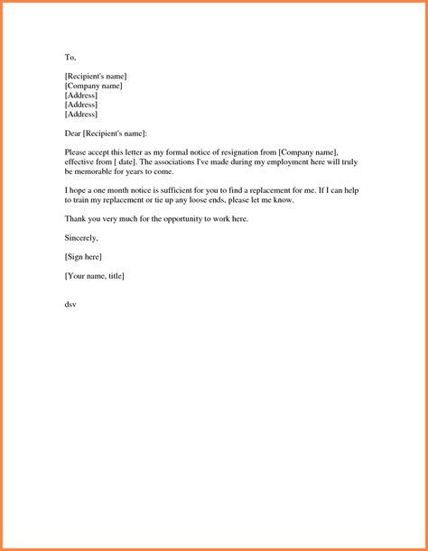 resignation letter  months notice sample notice letter