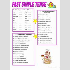 Past Simple Tense Worksheet  Free Esl Printable Worksheets Made By Teachers