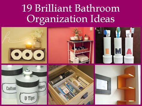 Bathroom Organization Ideas Diy by 19 Brilliant Bathroom Organization Ideas