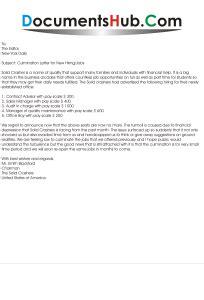 sample culmination letter format   hiring